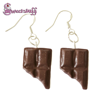 chocolade reep oorbellen
