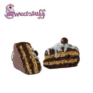 chocoladetaart oorbellen