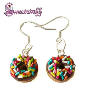 chocolade donuts oorbellen