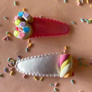 haarspeldjes letter donut gepersonaliseerd